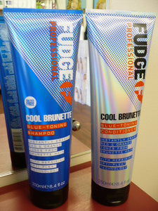 FUDGE COOL BRUNETTE SHAMPOO AND CONDITIONER DUO FOR BRUNETTE HAIR
