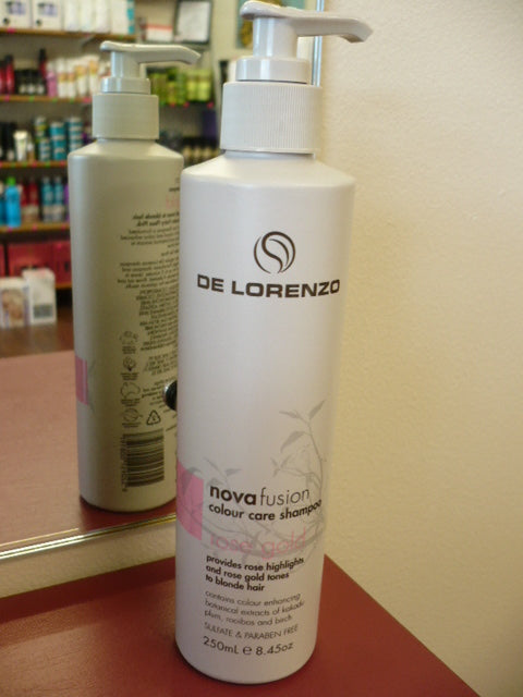 DE LORENZO NOVAFUSION COLOUR CARE SHAMPOO - ROSEGOLD 250ML