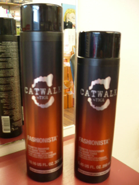 TIGI Catwalk Fashionista Brunette 300ml Shampoo + 250ml Conditioner DUO