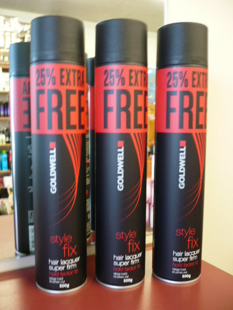 Goldwell Style Fix Super Firm Lacquer hair spray BIG 500g 3 X TIN