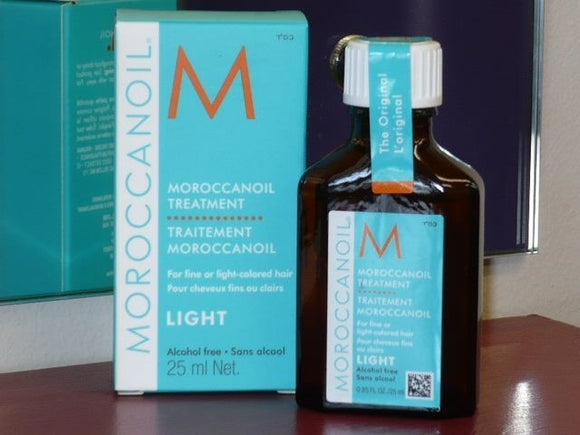 Moroccan oil LIGHT Hair Treatment 25ml - TRAVEL SIZE