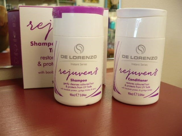 DeLorenzo Rejuven8 Shampoo 10ML & Conditioner 10ML Duo TRAVEL SACHET EACH