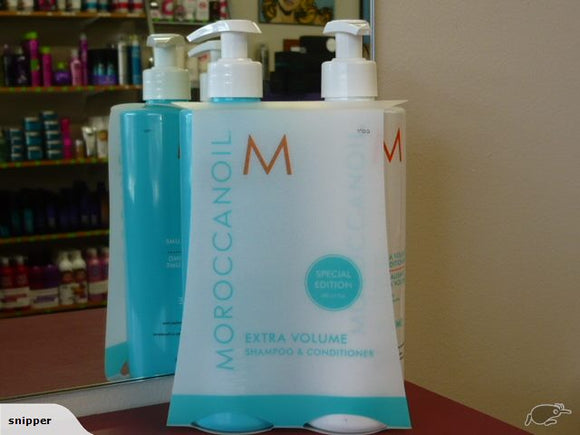 Moroccan oil Extra Volume Shampoo and Conditioner DUO BOTH 500ML WITH PUMPS