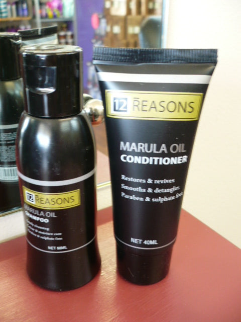 12Reasons MARULA Shampoo & Conditioner duo TRAVEL SIZE
