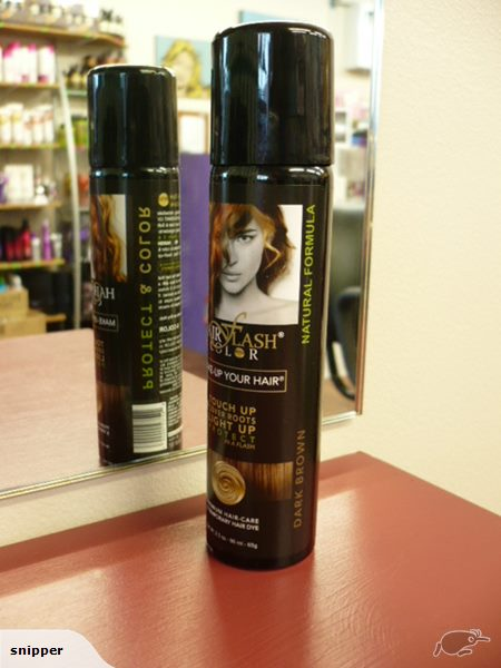 HAIR FLASH COLOR Dark Brown - HAIR COLOUR REGROWTH TOUCH UP SPRAY