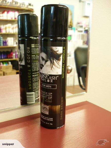 HAIR FLASH COLOR Dark Brown For Men - HAIR COLOUR REGROWTH TOUCH UP SPRAY