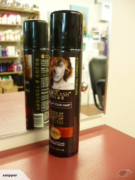 HAIR FLASH COLOR Red Copper- HAIR COLOUR REGROWTH TOUCH UP SPRAY