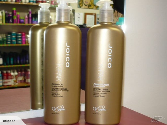 JOICO K-PAK Shampoo & Conditioner 500ml OR LITRE DUO
