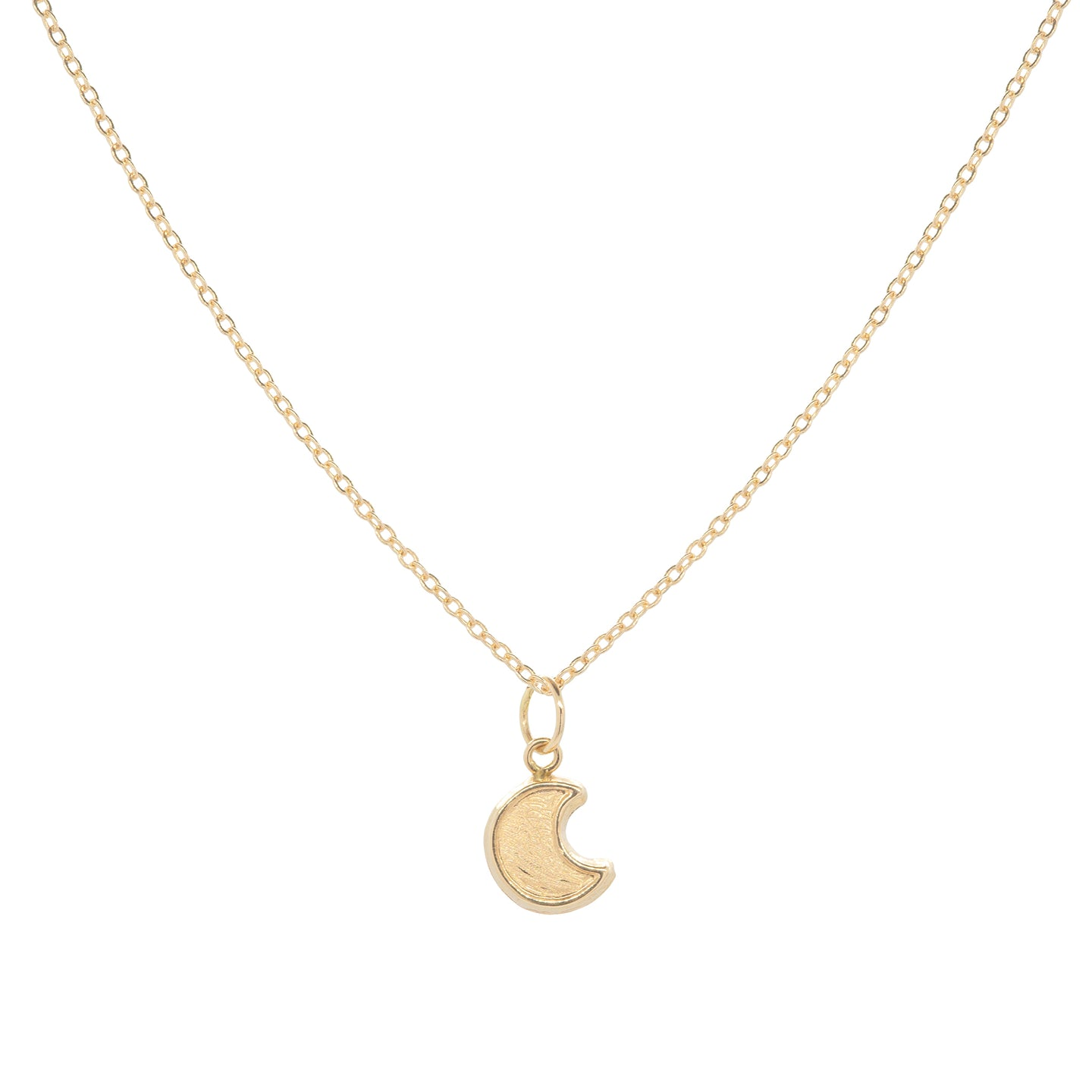14k Solid gold Baby Crescent Moon Necklace