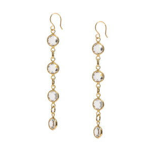 Swarovski gold drop earrings