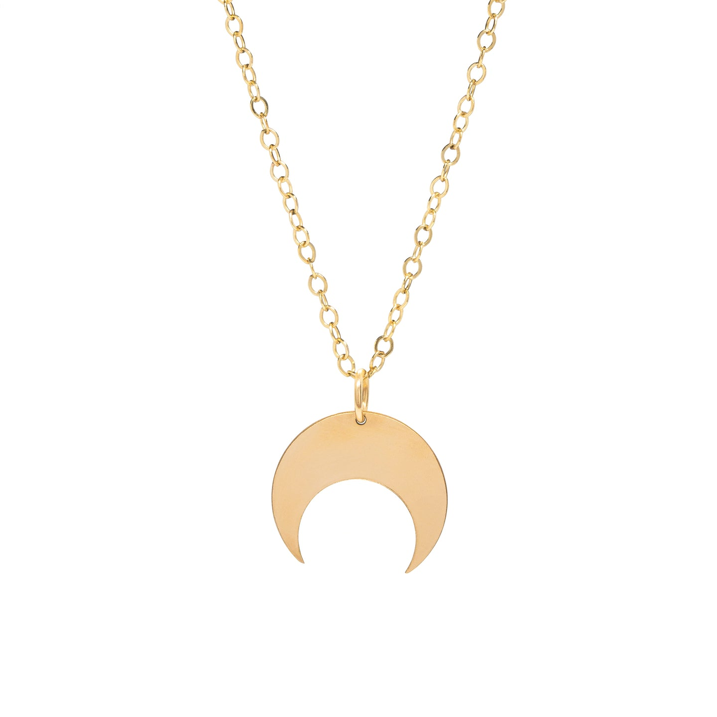 14k gold-filled Crescent Necklace
