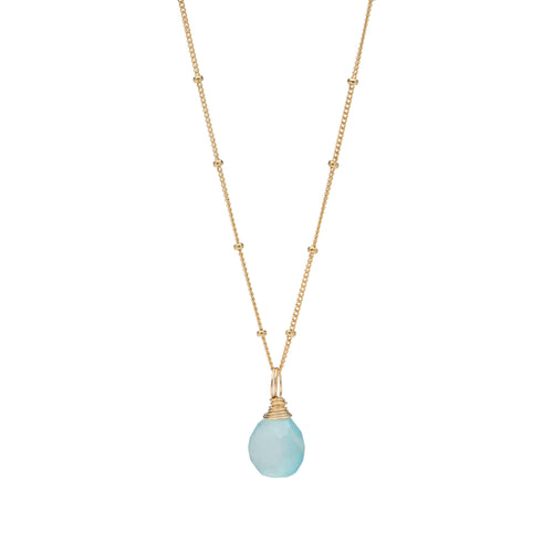 Gold Chalcedony Necklace