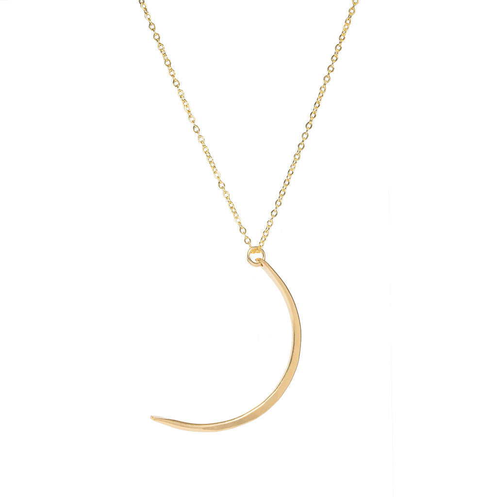 14k Gold-filled Crescent Long Necklace