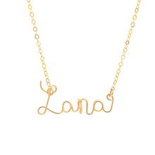 Load image into Gallery viewer, 14k gold-filled Cursive Name Necklace