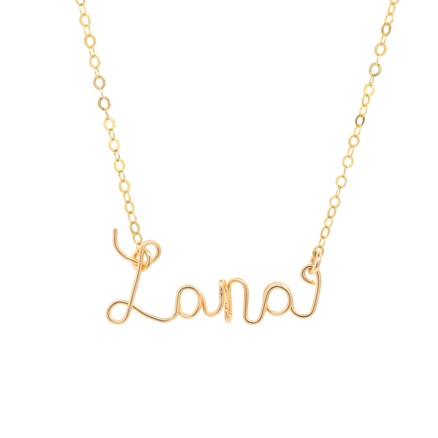 14k gold-filled Cursive Name Necklace