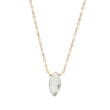 Load image into Gallery viewer, Green Amethyst 14k gold filled Necklace