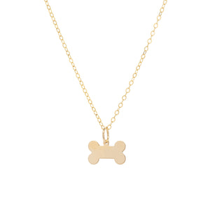 Fur Baby Dog Bone Necklace