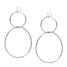 Load image into Gallery viewer, Double Linked Hoops Earrings