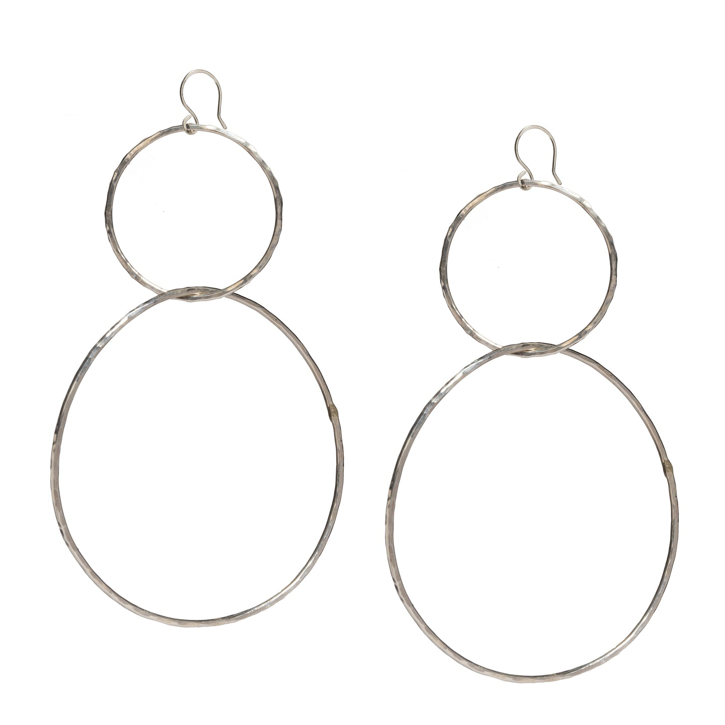 Double Linked Hoops Earrings