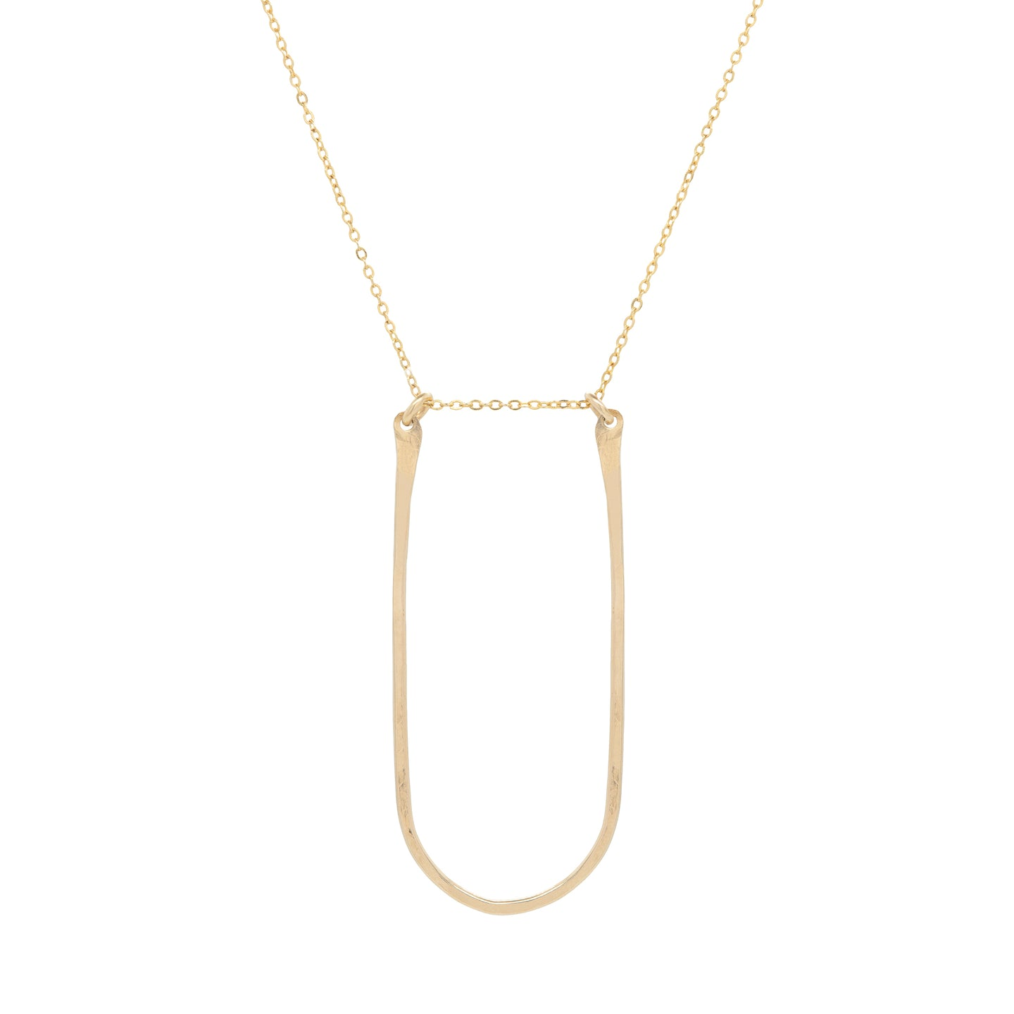 Oval Threader Necklace