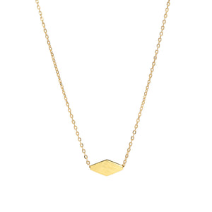 14k Solid Gold Diamond Charm Necklace
