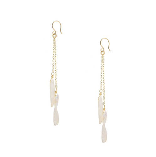 Keshi Pearl Bar earrings