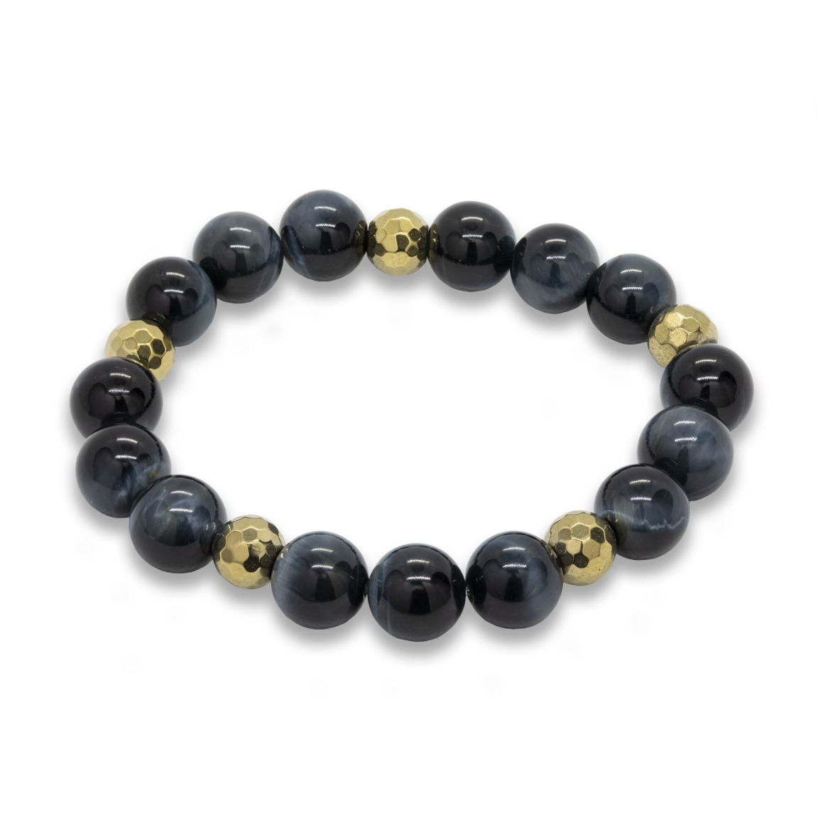 Unisex Kyanite Mala Stretch Bracelet