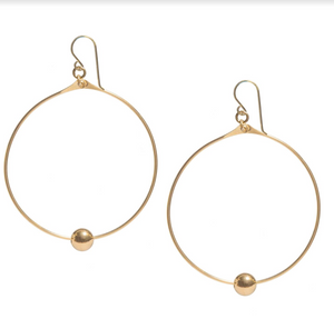 Floating Ball Hoop Earrings