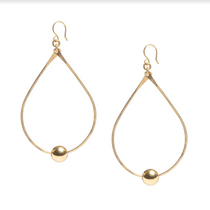 Floating Ball Teardrop Earring