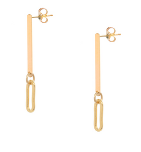 Chain Vertical Bar Earring