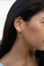 Load image into Gallery viewer, 14k Solid Gold Triangle Post Earring