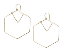 Load image into Gallery viewer, Hexagon Geometric Earrings