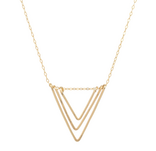 Load image into Gallery viewer, Triple Chevron Threader Necklace