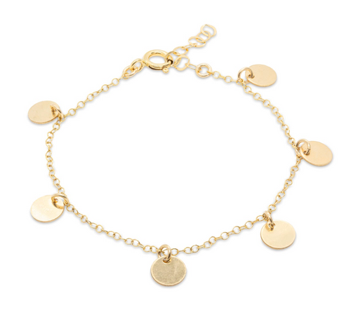 Mini Disc Gold Bracelet