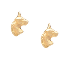 Load image into Gallery viewer, Unicorn Post Stud Earrings