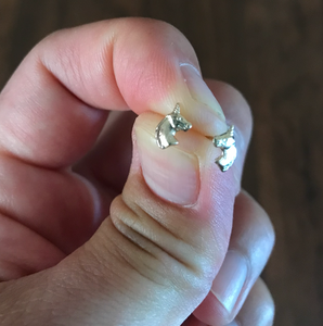 Unicorn Post Stud Earrings