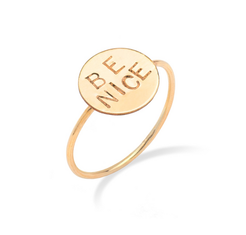 Personalized Disc Ring
