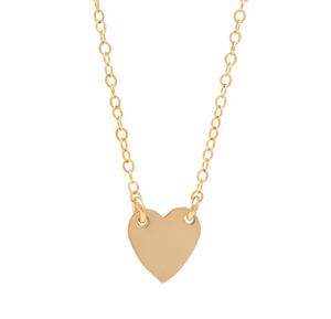 Heart of Gold Tag Necklace