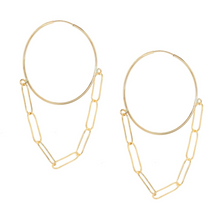 Load image into Gallery viewer, Endless Hoop Chain Earrings