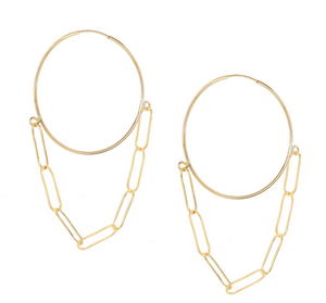 Endless Hoop Chain Earrings