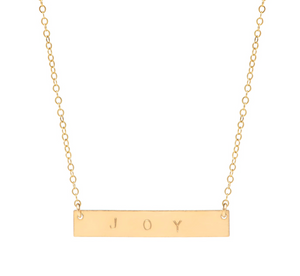Customizable Gold Name Plate Necklace