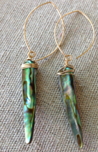 Load image into Gallery viewer, Abalone Tusk Earrings