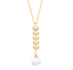 Athena Vertical Gold Necklace