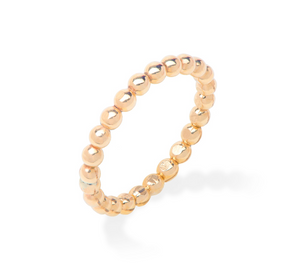 Beaded Gold Ring