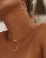 Load image into Gallery viewer, Tiny Gold Bar Necklace