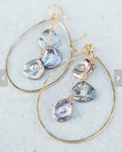 Tahitian Biwa Pearl Earrings