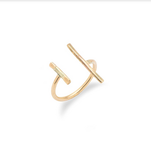 Uneven Bars Gold Ring