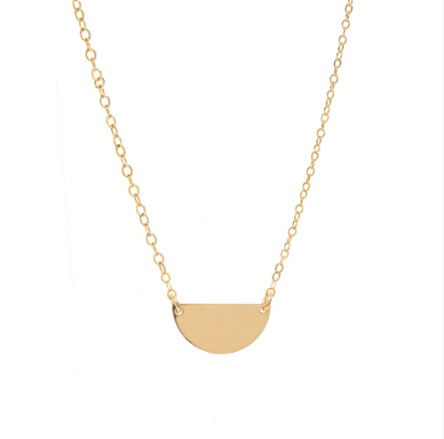 Half moon Semi-circle 14k gold-filled Necklace