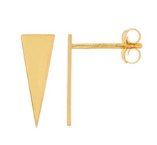 Load image into Gallery viewer, Isosceles Triangle 14k SOLID gold studs