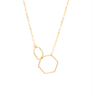 Double Hexagon 14k gold-filled Necklace